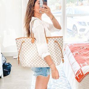 Louis Vuitton Damier Azur Neverfull GM Tote Bag